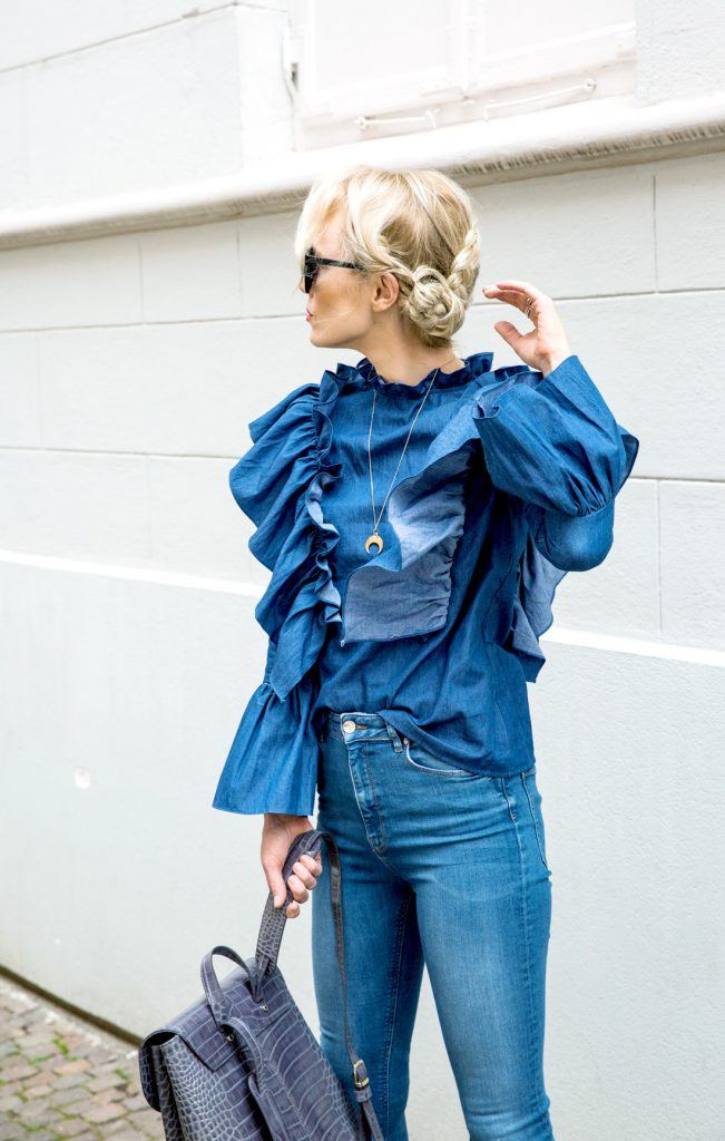 STORETS RUFFLES, AIGNER BACKPACK & DENIM LOVE